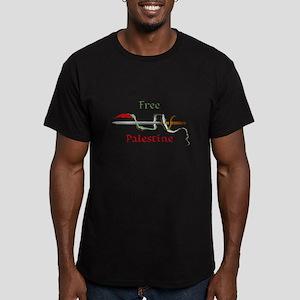 Palestine sword Men's Fitted T-Shirt (dark)