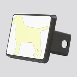 Yellow Lab Silhouette Rectangular Hitch Coverle)