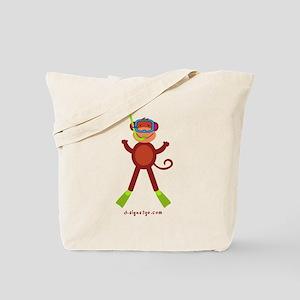 Monkey Snorkel Tote Bag