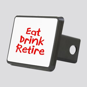 Eat, Drink, Retire Rectangular Hitch Cover