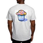 Pop Art - 'Cake' Back/Front Ash Grey T-Shirt