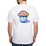 Pop Art - 'Cake' Back/Front White T-Shirt