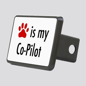 Dog is my Co-Pilot Rectangular Hitch Cover