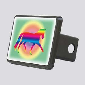 dressage trot rainbow Rectangular Hitch Cover
