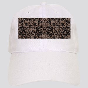 DAMASK2 BLACK MARBLE & BROWN COLORED PENCIL Cap