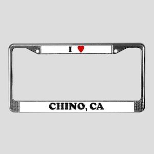 I Love Chino License Plate Frame