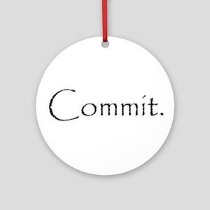 Commit Ornament (Round)