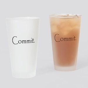 Commit Drinking Glass