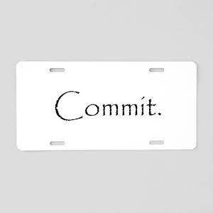 Commit Aluminum License Plate