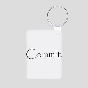Commit Aluminum Photo Keychain