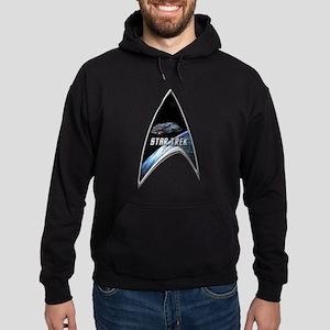 StarTrek Command Silver Signia defiant Hoodie (dar