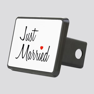 Just Married (Black Script w/ Heart) Rectangular H