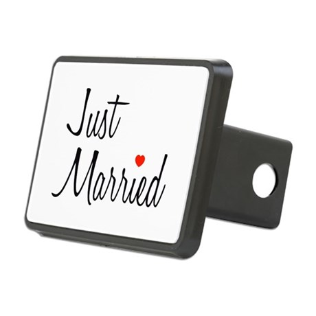 Just Married (Black Script w/ Heart) Rectangular H