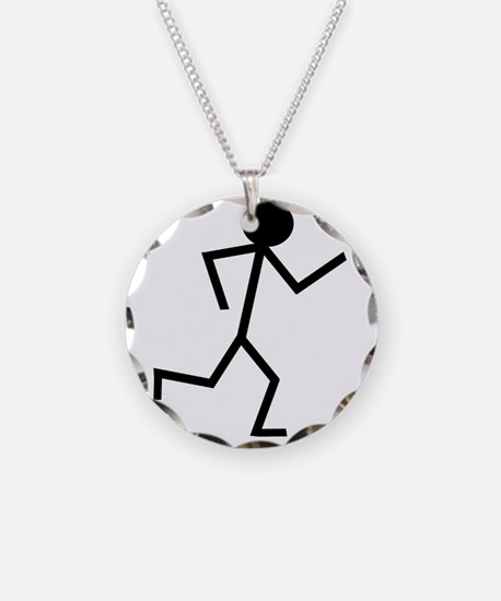 Running Stickman.png Necklace