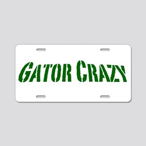 gator crazy Aluminum License Plate