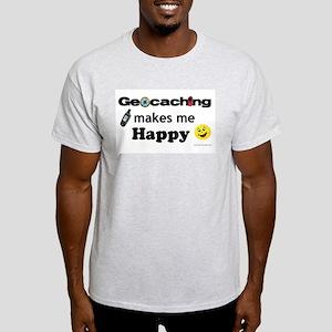 I Love Geocaching Light T-Shirt