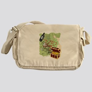 Geocache to Treasure Messenger Bag