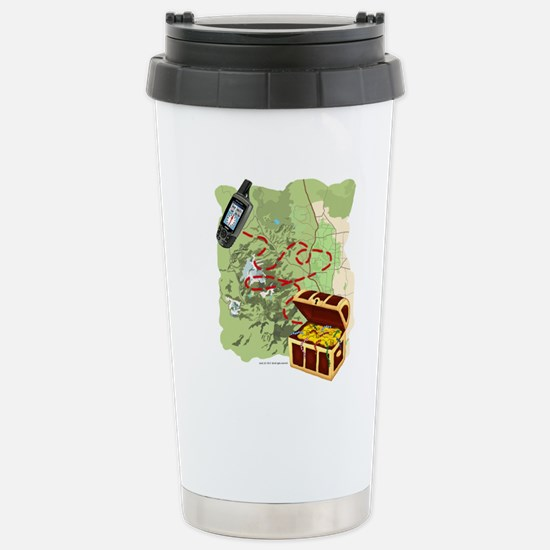 Geocache to Treasure Stainless Steel Travel Mug