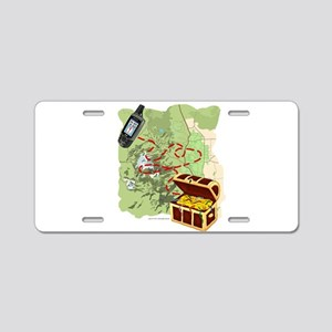 Geocache to Treasure Aluminum License Plate