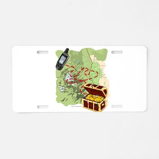 Geocache to Treasure Aluminum License Plate