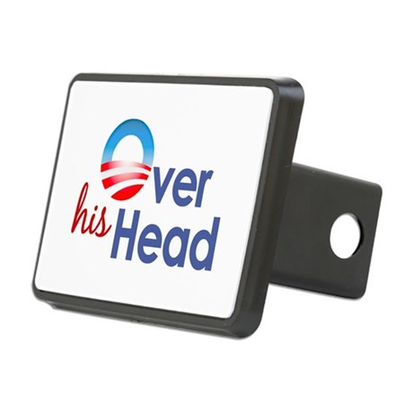 Obama Over His Head Rectangular Hitch Cover