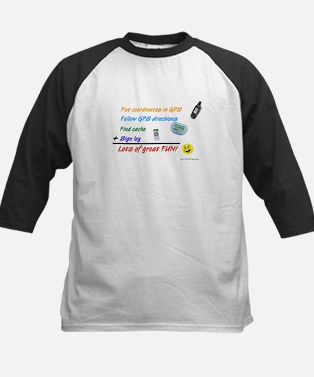 Geocaching Math Kids Baseball Jersey