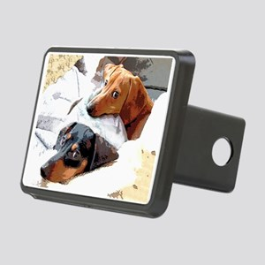 Naptime Doxies Rectangular Hitch Cover