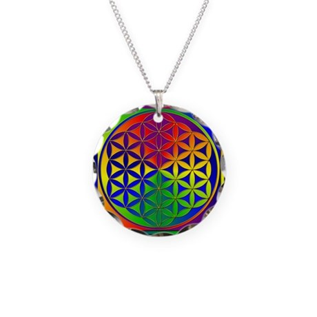 Flower of Life Necklace Circle Charm