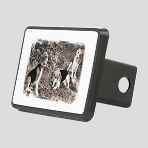Beagle hunting Rectangular Hitch Cover