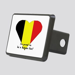 Belgian pride flag Rectangular Hitch Cover
