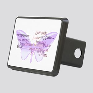 Peace and Gratitude Butterfly Rectangular Hitch Co