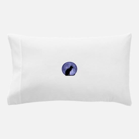 Black Cat, Blue Moon Pillow Case