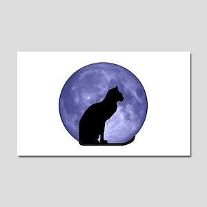 Black Cat, Blue Moon Car Magnet 20 x 12