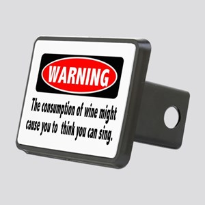 Wine Warning Rectangular Hitch Cover