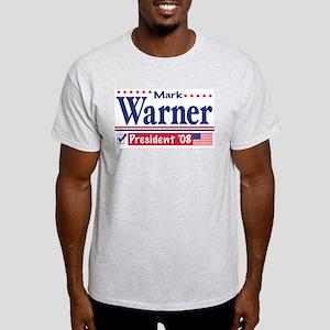 Mark Warner Vote Blue 2008 Ash Grey T-Shirt