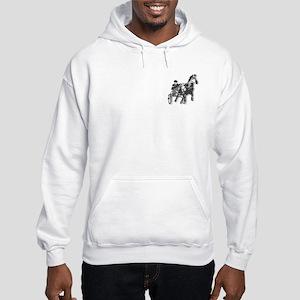 Pacer Black Silhouette Hooded Sweatshirt