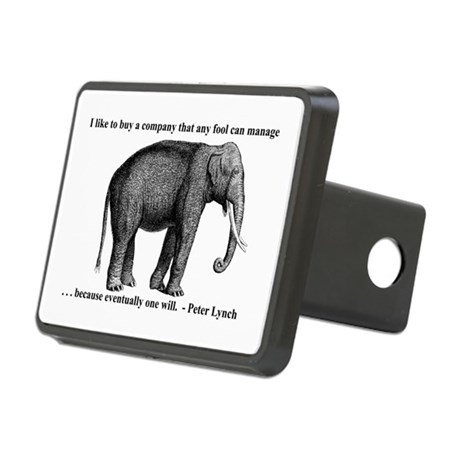 A Wise Elephant (Rectangular Hitch Cover)