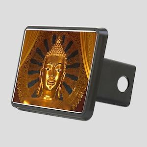 Giant Golden Budha Head Rectangular Hitch Cover