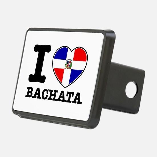 I love Bachata Rectangular Hitch Coverle)