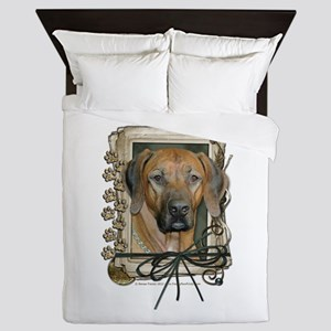 Fathers Day Stone Paws Ridgeback Queen Duvet