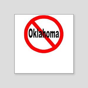 "oklahoma Square Sticker 3"" x 3"""