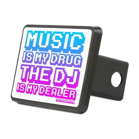 Music Is My Drug Rectangular Hitch Coverle)