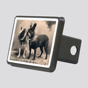 French Bulldog Eliz. Pair Rectangular Hitch Cover