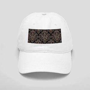 DAMASK1 BLACK MARBLE & BROWN COLORED PENCIL Cap