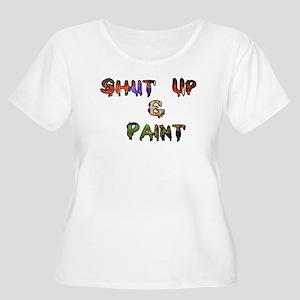 Shut Up & Paint Women's Plus Size Scoop Neck T-Shi