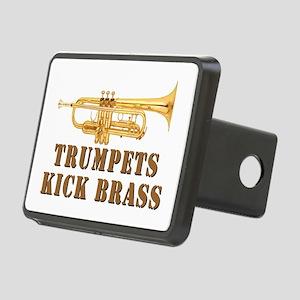Trumpets Kick Brass Rectangular Hitch Cover