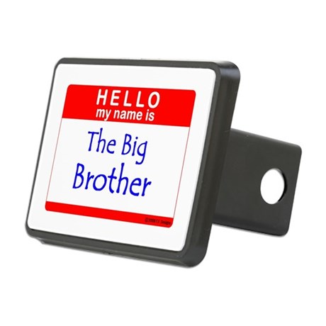 Big Brother Name Tag Rectangular Hitch Coverle)