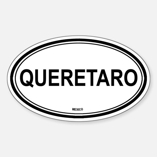 Queretaro, Mexico euro Oval Decal