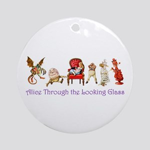 Through the Looking Glass Ornament (Round)