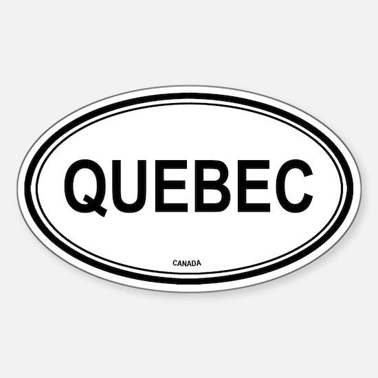 Quebec, Canada euro Oval Decal